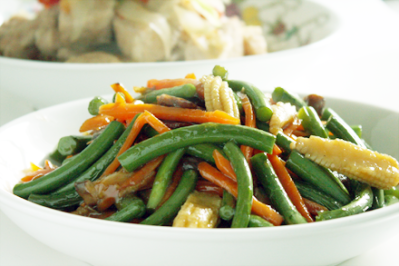 Vegetarian Stir-Fried Garlic Scapes