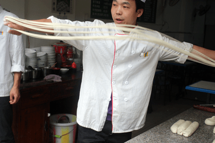 Pulled Noodle Man from Western China