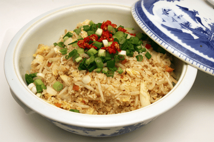 Salted Fish and White Asparagus Fried Rice