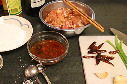 Ingredients for General Tso's Chicken
