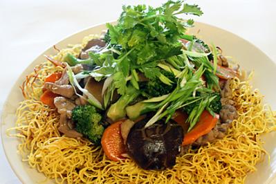 Hong Kong Style Pan-Fried Noodles