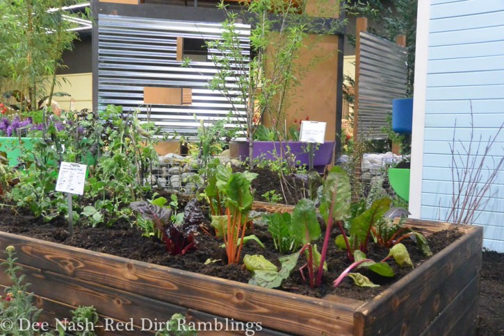 Edible Neighborhood garden at the Northwest Flower and Garden Show.