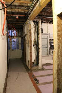 Couloir 1er étage travaux 1ère phase