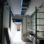 Plafond dégagement de la passerelle