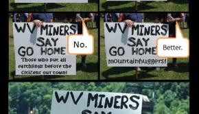 coal workers picket