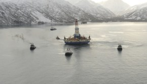 shell oil's Kulluk rig, now cleared to drill for oil in the Arctic