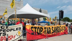 Tar sands protesters in St. Paul, Minnesota, June 6, 2015