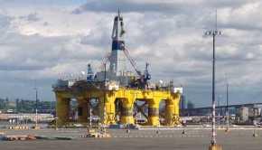 Shell Oil's Polar Pioneer Arctic Drilling Rig - West Seattle Washington cc chas redmond