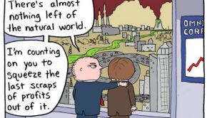 """DiCaprio calls for an end to the """"politics of greed."""""""