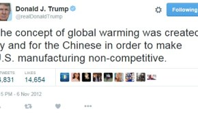 trump tweets on climate change. No, it's not a Chinese Hoax