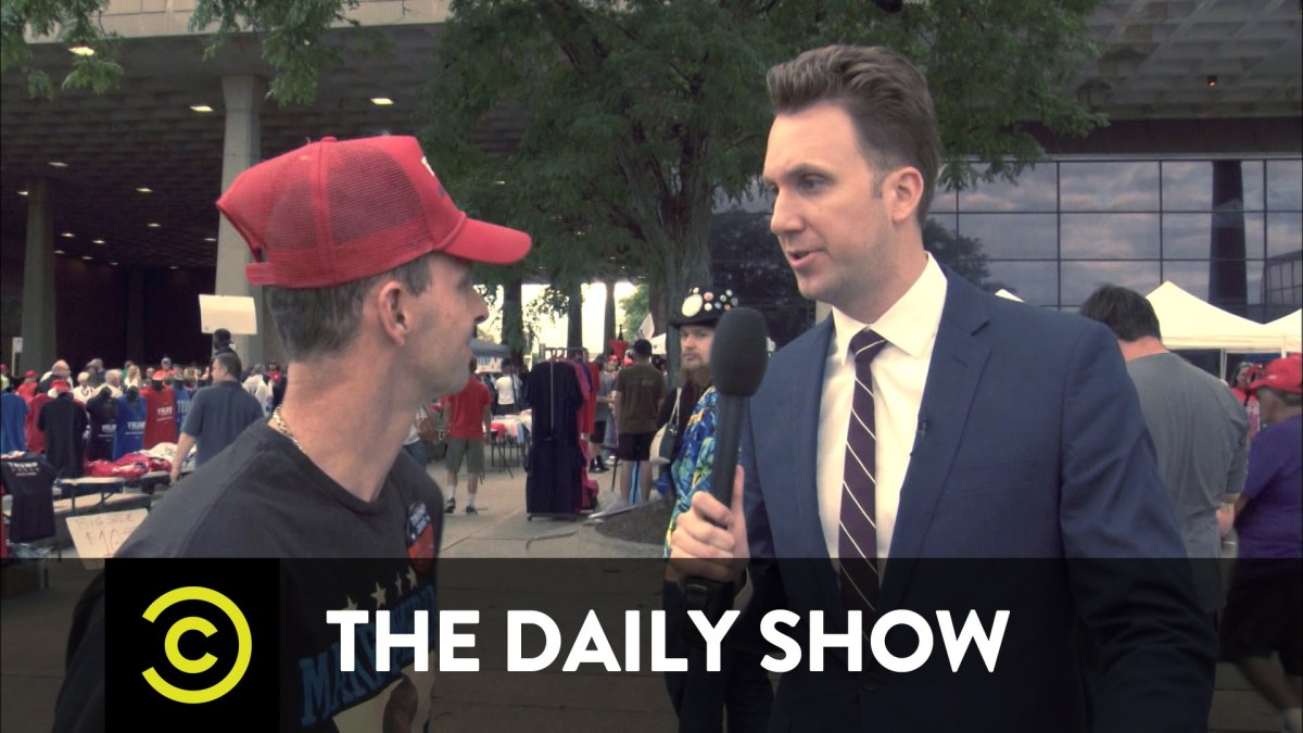 Watch the Daily Show go to a Trump rally and find plenty of deplorables