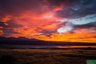Wschód słońca na jeziorem Pukaki