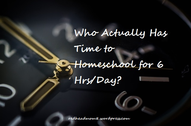 Homeschooling doesn't take as long as you think!