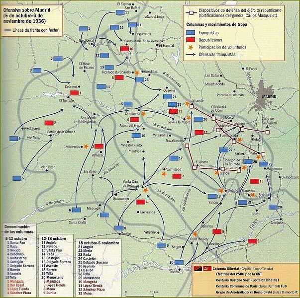 Ofensiva Sobre Madrid 5 oct-6 nov 1936