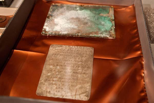 Objetos de la cápsula del tiempo de 1795