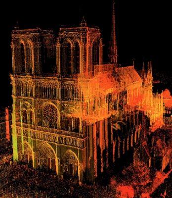 Los datos ofrecidos por el láser permiten construir modelos virtuales de Notre Dame
