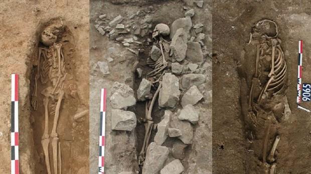 Tumbas musulmanas de la Edad Media halladas en Niemes (Francia). Crédito: Universidad de Burdeos.