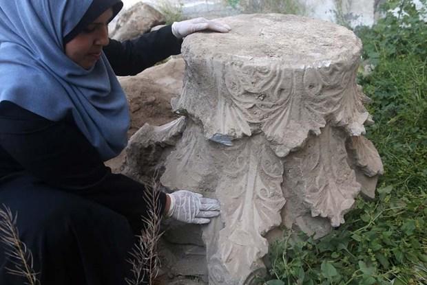 Iglesia bizantina descubierta en Gaza. Crédito: Autoridad de Antigüedades.