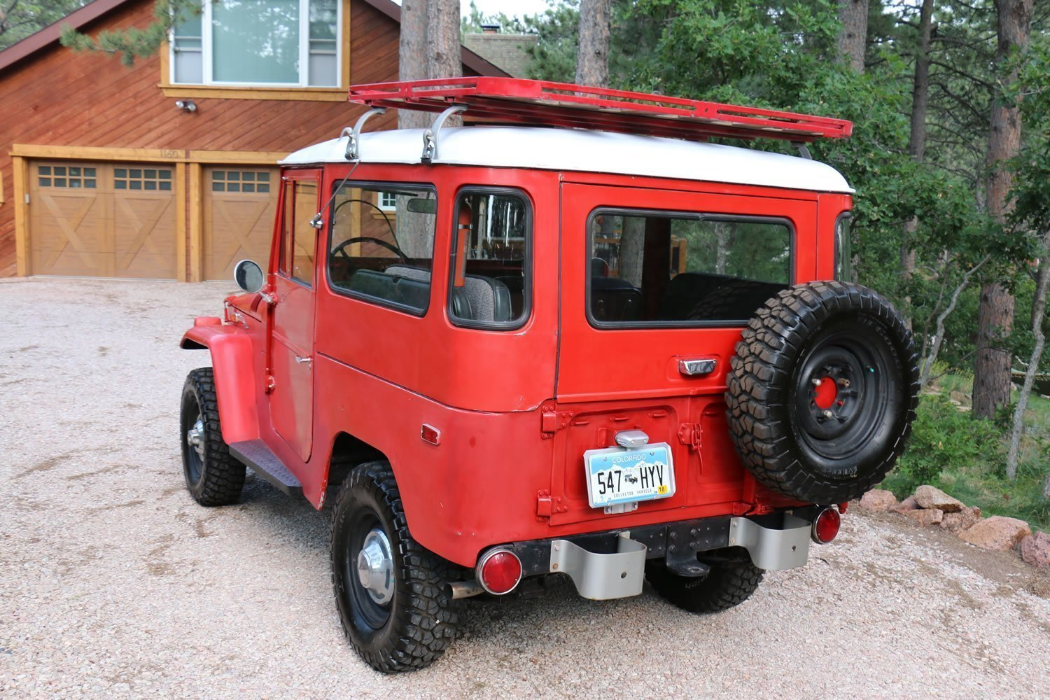 FOR SALE 1971 Toyota Land Cruiser FJ40 Red 79k miles