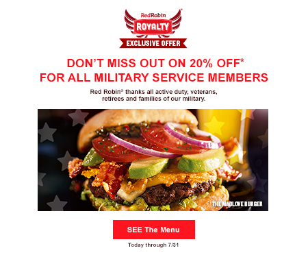 Red Robin Royalty Exclusive Offer