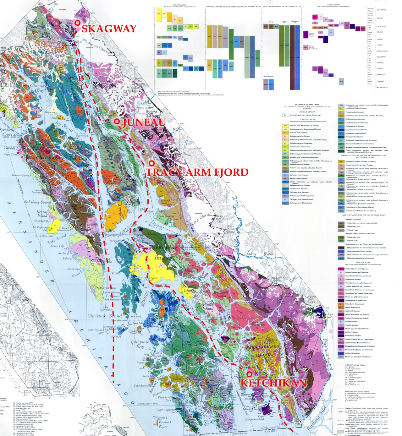 after geologic map of southeastern alaska by george e gehrels and henryc berg . checking an alaskan cruise off the bucket list – red shoes red wine