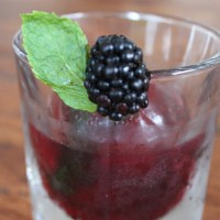 Cool as Ice: Blackberry + Vanilla Vodka