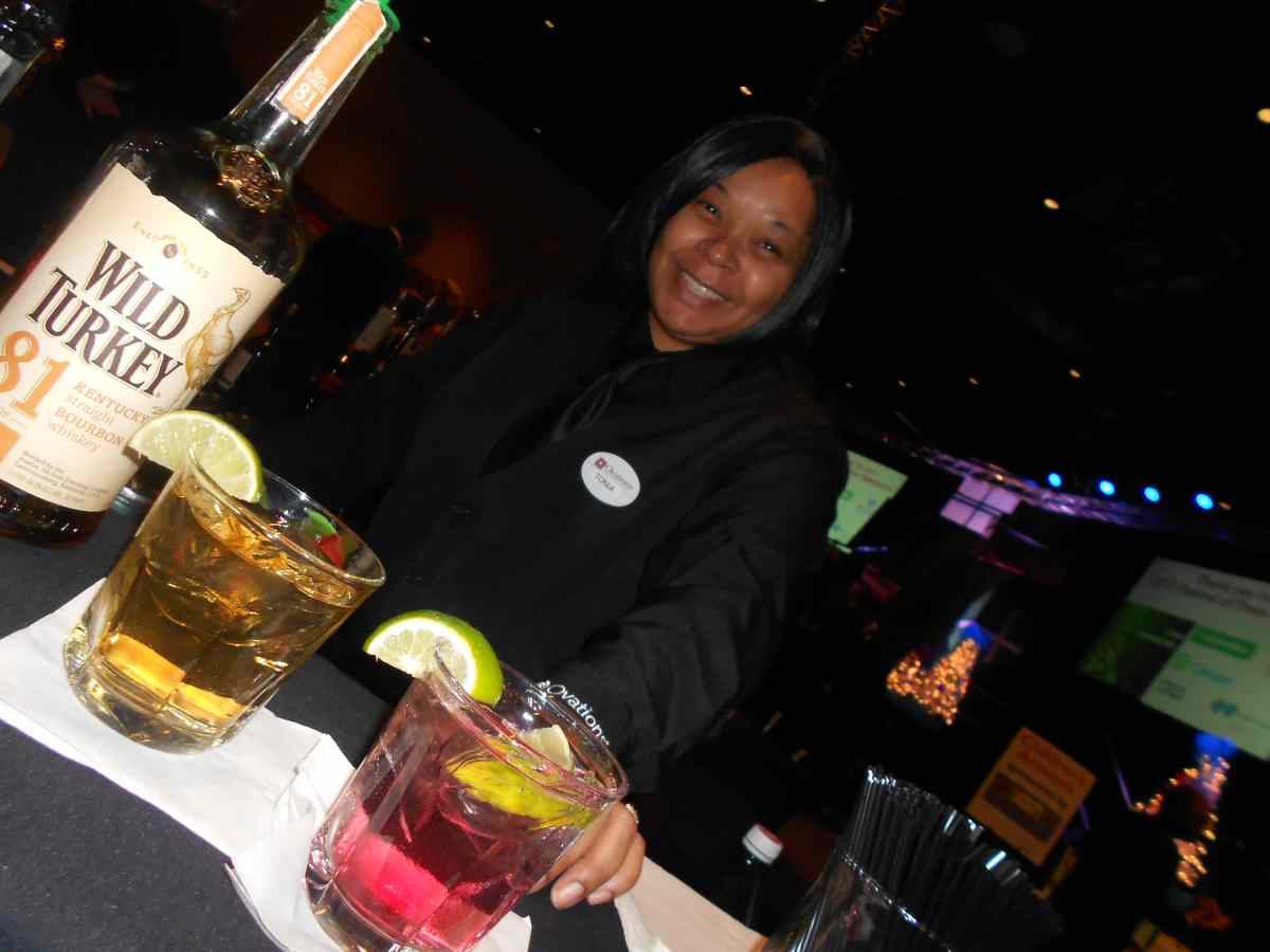 Our kind bartender!  :)