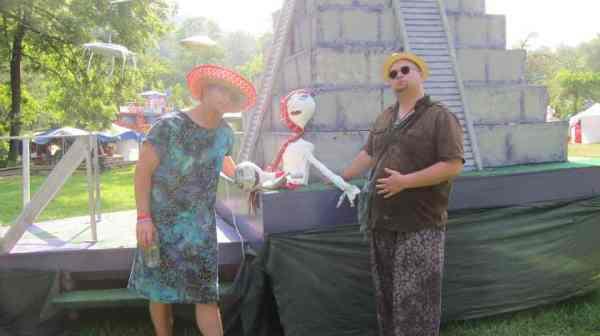 Brad and Dan enjoy the splendor of the Alien Pyramid!