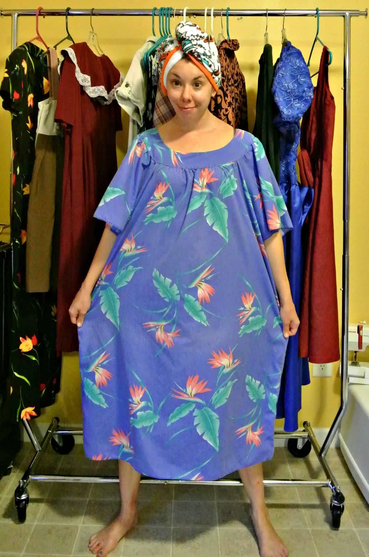 From Muumuu To Wrap Dress Refashionista