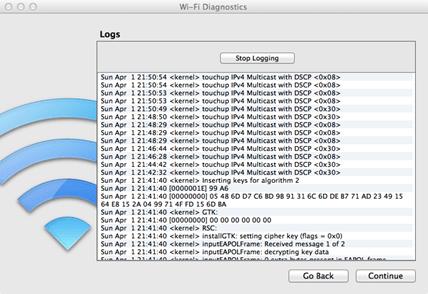 Apple Mac OSX Snow Lion Wi-fi Diagnostics
