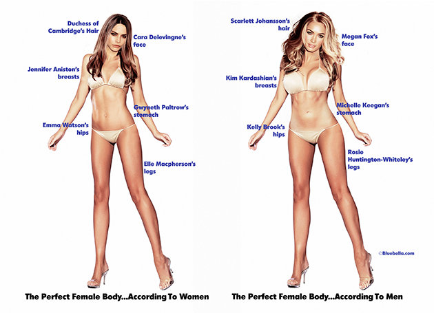 cuerpo femenino ideal