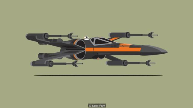 Po Dameron's T-70 X-wing fighter