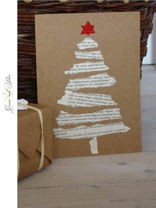 Tarjetas de navidad originales hechas a mano regalo y fiesta - Tarjetas originales navidad ...
