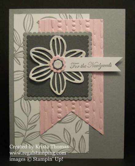 Falling Flowers with May Flowers Framelits by Stampin' Up! Created by Krista Thomas, www.regalstamping.com