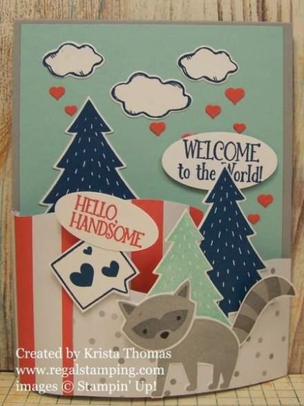 Foxy Friends Bendi Card by Krista Thomas, www.regalstamping.com
