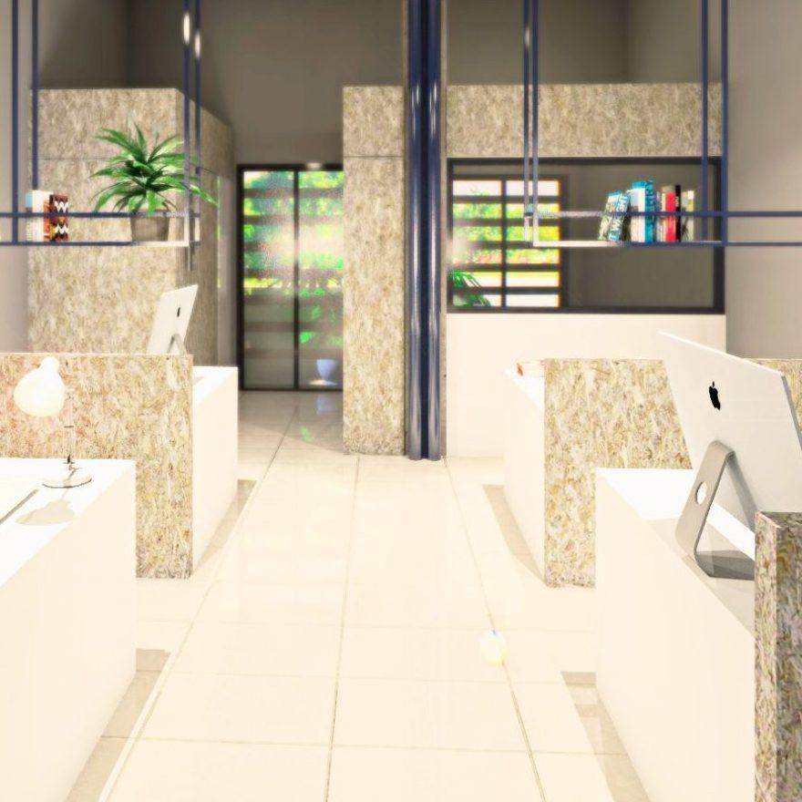 Diseño de espacio de coworking