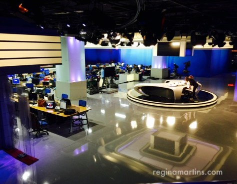 Newsroom of a major international network. I can't tell you which...and I can't tell you why... ©2016 Regina Martins