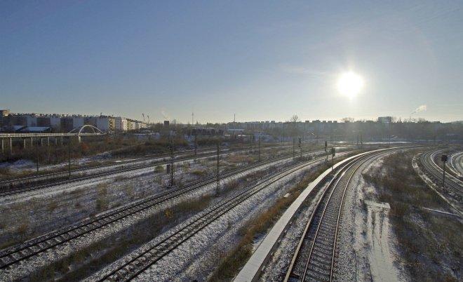 Gleisbetten im Winterhemd