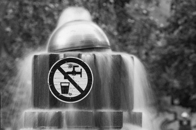 Brunnen, nur gucken, kein trinkwasser