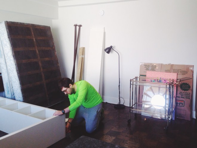 moving out of studio apartment