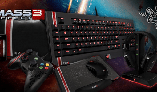 Mass Effect 3 Razer keyboard mouse headset gaming image 001