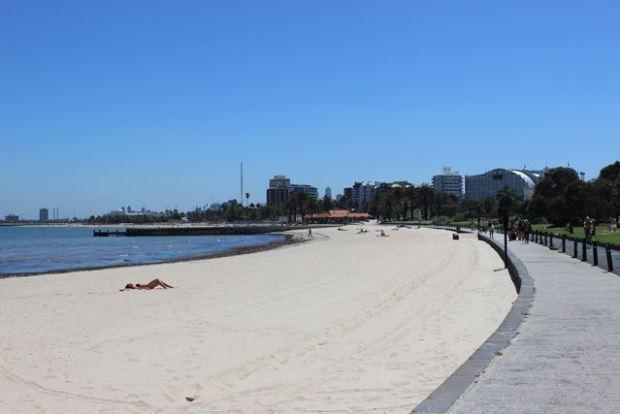 Strand in Australien St.Kilda