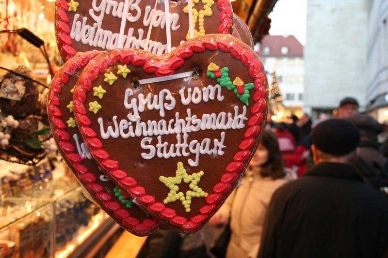 Weihnachtsmarkt Stuttgart - Lebkuchenherz