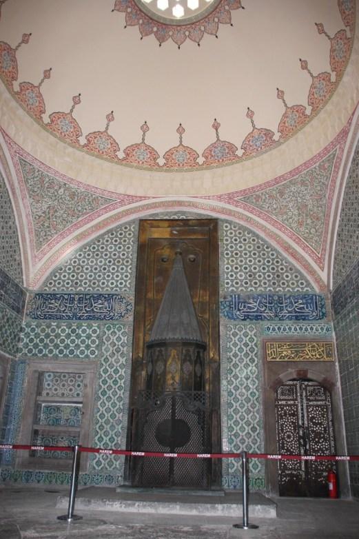 Inne i Haramet i Topkapi i Istanbul, Tyrkia