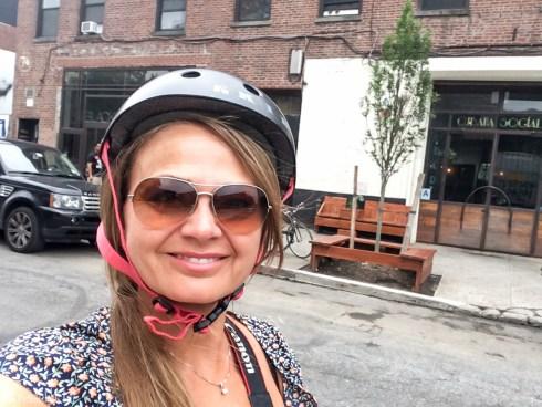 På sykkeltur i Brooklyn, New York