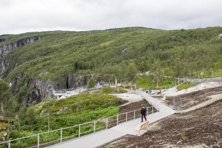 Utsiktspunkt Vøringsfossen Norge