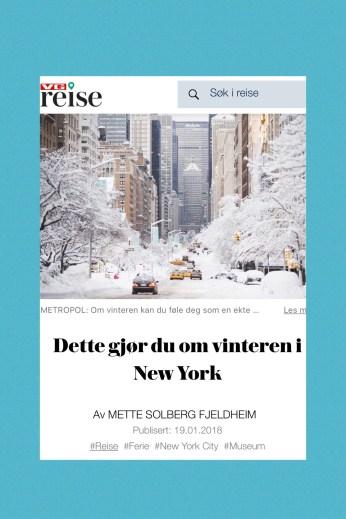 VG artikkel New York