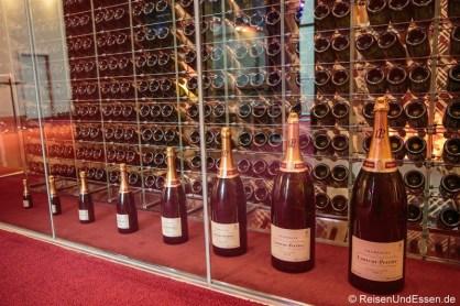 Champagner-Reihe im Weinturm