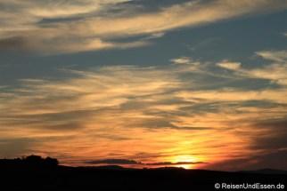 Sonnenuntergang bei Pienza