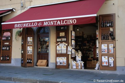 Laden mit Brunello di Montalcino